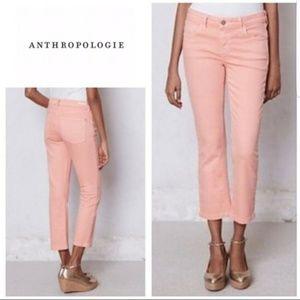 Salmon pink capri pants